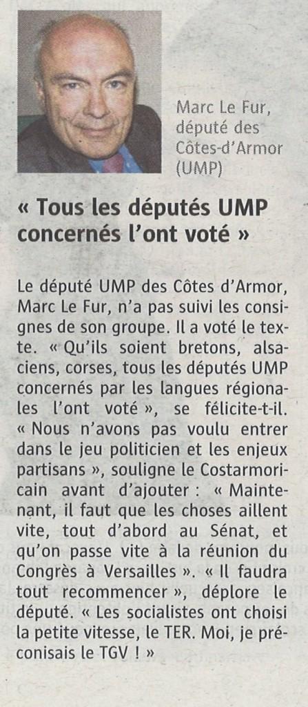 Le Télégramme le 29 janvier 2014