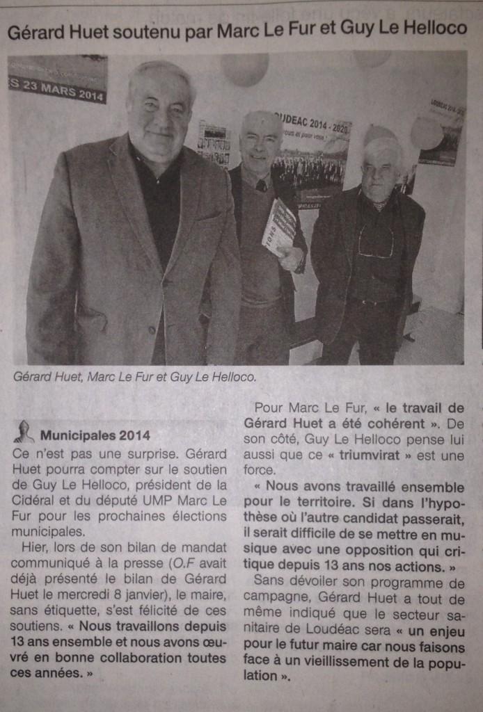 Ouest-France 25 février 2014