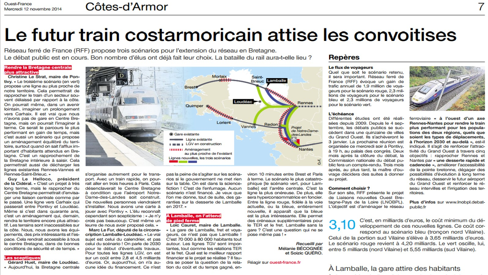 Le train attire la convoitise des costarmoricains