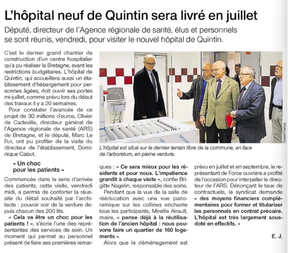 L'hôpital neuf sera livré en juillet